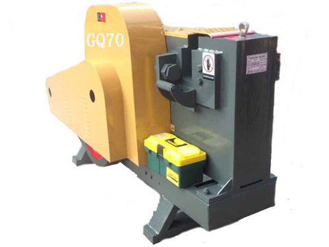 Round rebar cutting machine